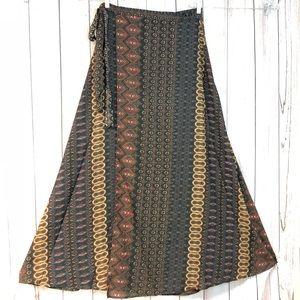 Elan wrap maxi skirt M